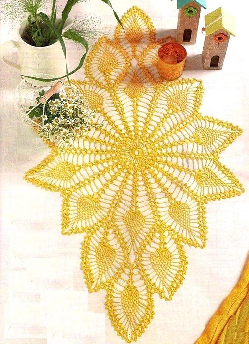Camino de mesa elegante camino de mesa blanco y negro con - Camino de mesa elegante en crochet ...