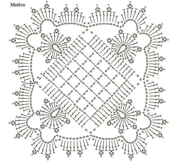 Bonito Motivo Cuadrado a Crochet - Patrón y video ⋆ Manualidades Y ...