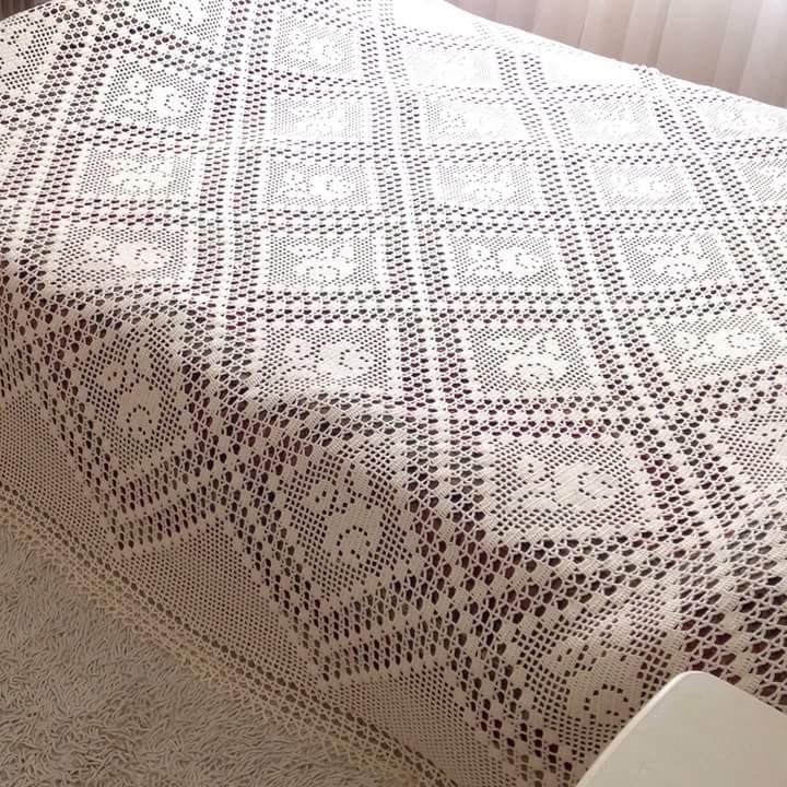 Colcha para cama tejida a crochet con patrones ⋆ Manualidades Y ...
