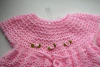 Como Hacer Hermoso Vestido Y Zapatos A Crochet Para Bebé