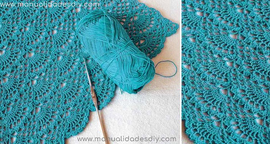 Punto Abanico Tejido a Crochet - Manualidades Y DIYManualidades Y DIY
