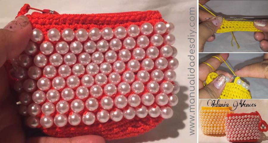 Cómo hacer monederos a crochet con perlas - Manualidades Y ...