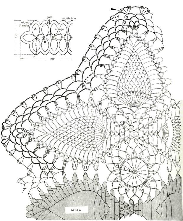 Camino de mesa a crochet moderno manualidades y for Camino mesa moderno