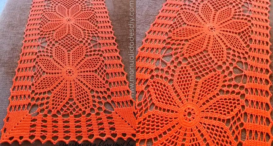 Carpeta rectangular tejida a crochet con esquema ⋆ Manualidades Y ...