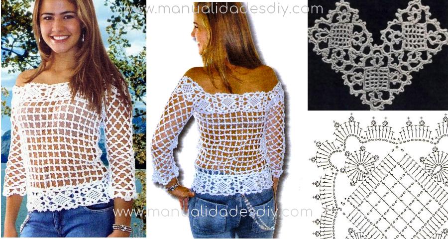 Como hacer una blusa tejida facil con video tutorial - Ideas para hacer ganchillo ...