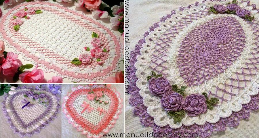 Patrones de Maravillosos Paños en crochet - Manualidades Y ...