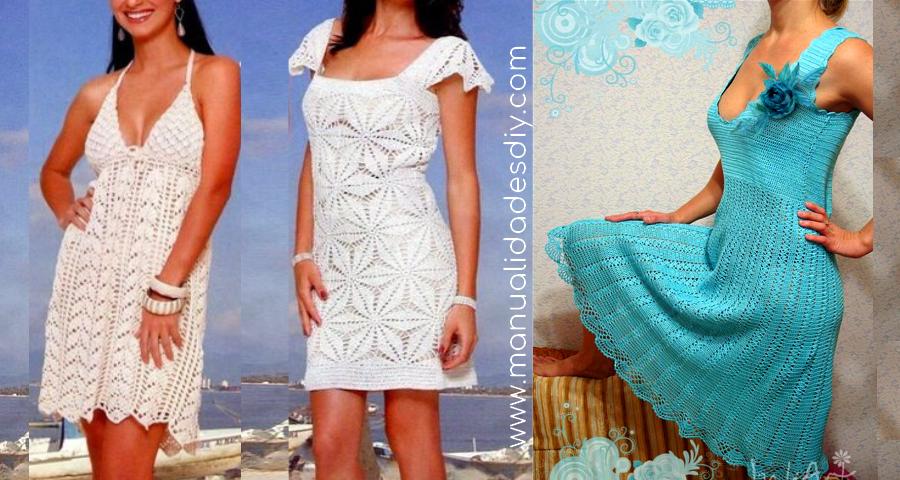 Patrones de vestidos tejidos a ganchillo – Vestidos de noche de moda ...