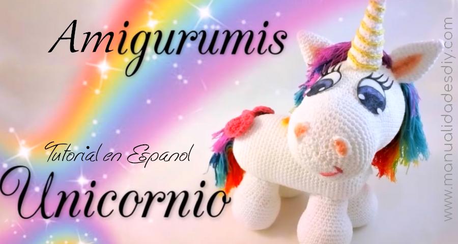 Unicornio Amigurumi!! - como tejer un unicornio paso a paso ...