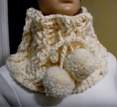 cuello trenzas crochet