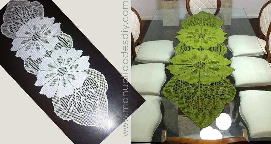 Camino de Mesa en Crochet con Patrones - Manualidades Y ...