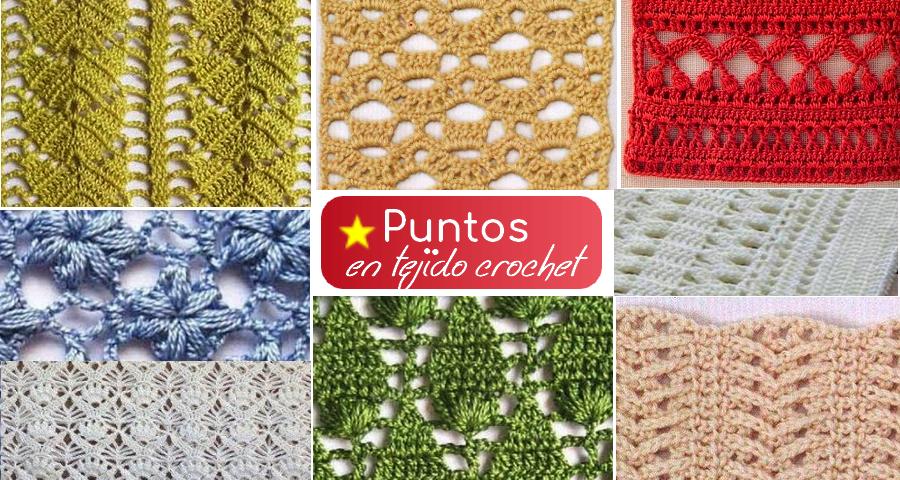 Colecci n de puntos en tejido crochet manualidades y for Tejidos y novedades paredes