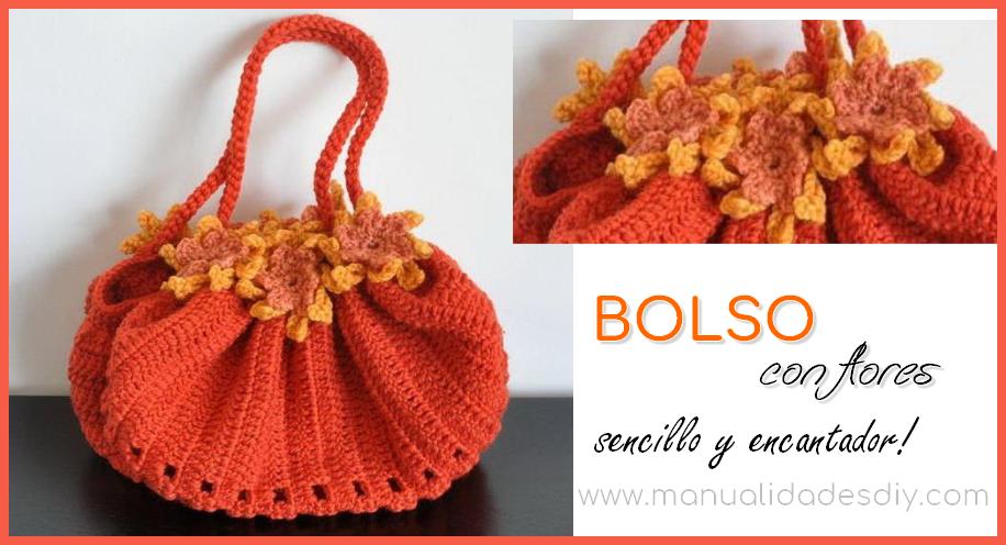 Bolso redondo tejido a crochet muy fácil! ⋆ Manualidades Y ...