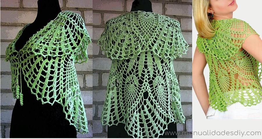 Chaleco Circular en Crochet con Patrones ⋆ Manualidades Y ...
