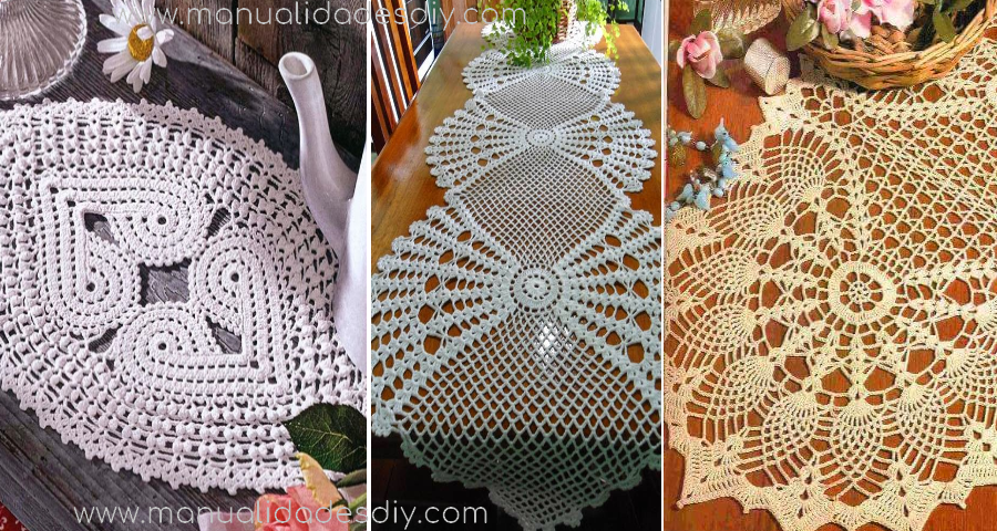 Patrones de caminos de mesa a crochet gratis - Camino de mesa elegante en crochet ...