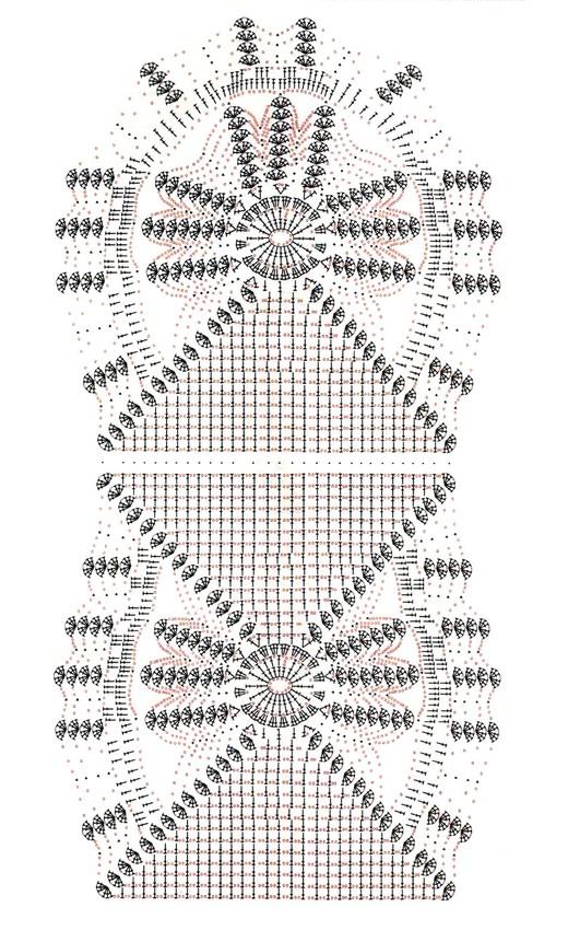 Único Camino De Mesa Patrones De Crochet Libre Friso - Ideas de ...