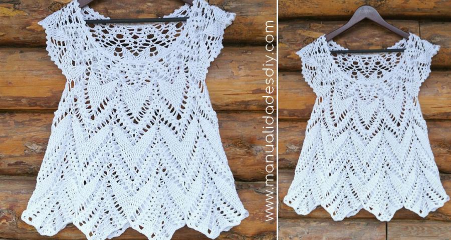 Preciosa Blusa Tejida A Crochet Para Verano Manualidades Y