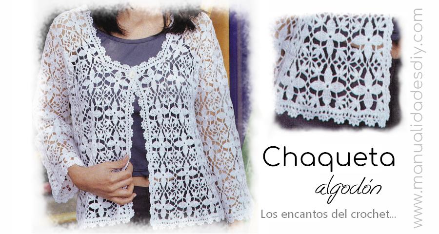 Chaqueta de verano al crochet / patrones y video ⋆ Manualidades Y ...