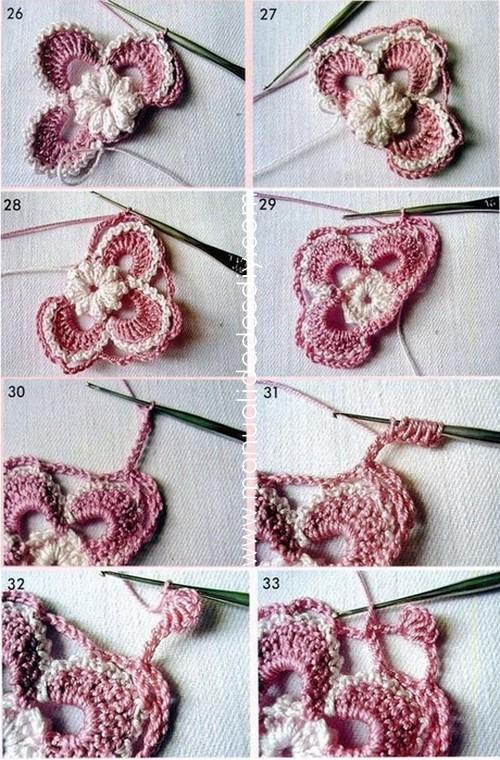 Flor en Crochet Irlandés - Paso a Paso ⋆ Manualidades Y ...