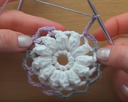 Flor En Crochet Paso A Paso Muy Facil Manualidades Y