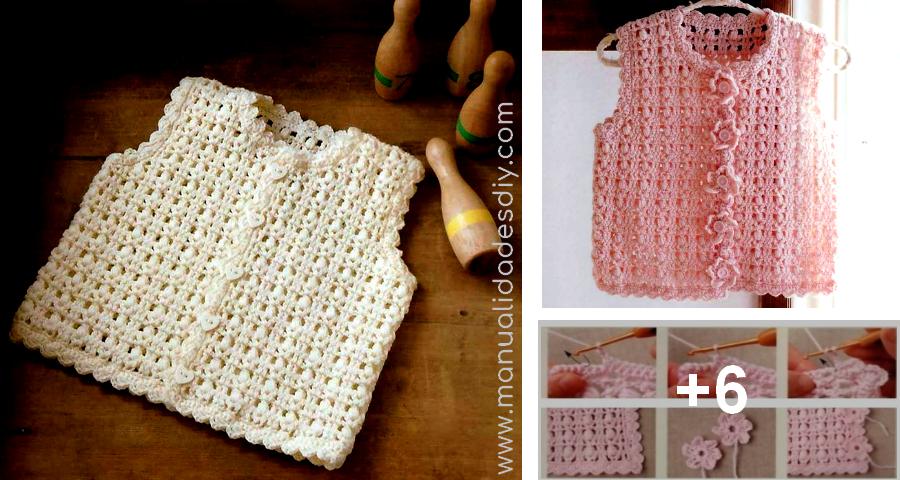 Chaleco al Crochet para Niños - Patrones ⋆ Manualidades Y ...