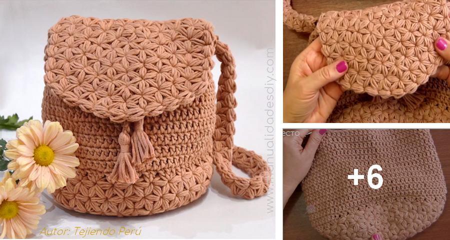 nuevos productos para excepcional gama de colores Donde comprar Vídeo tutorial de cómo hacer una mochila tejida a crochet ...