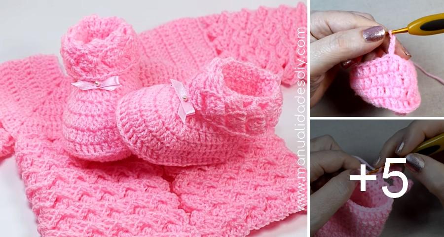 escarpines ajuar crochet