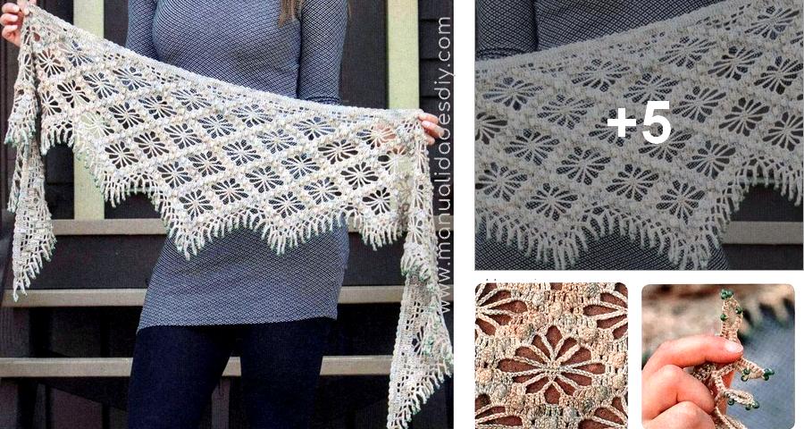 Bufanda Tipo Chal a Crochet - Manualidades Y DIYManualidades Y DIY