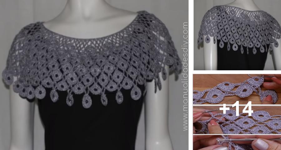 Cómo Tejer un Elegante Cuello a Crochet Paso a Paso ⋆ Manualidades ...