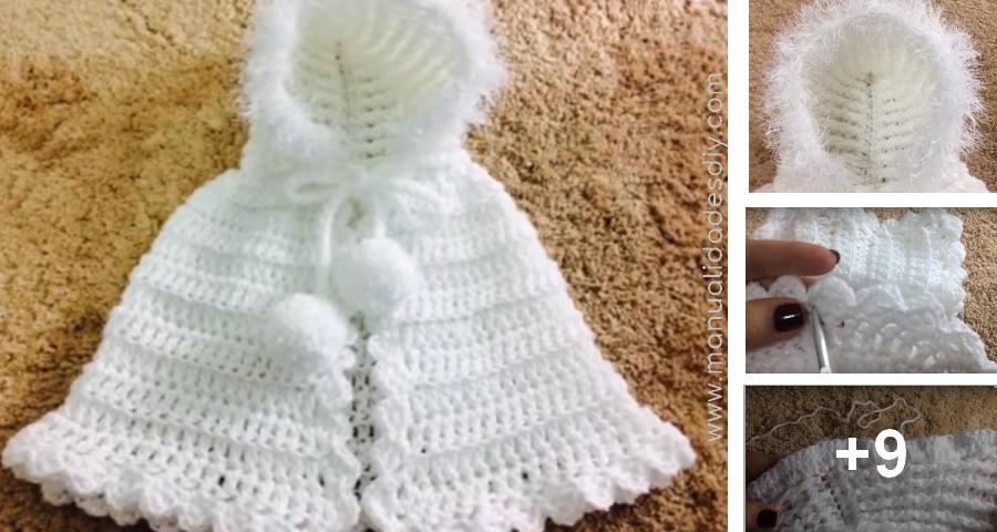 Tejer una Capinha para Bebé con Capucha a Crochet ⋆ Manualidades Y ...