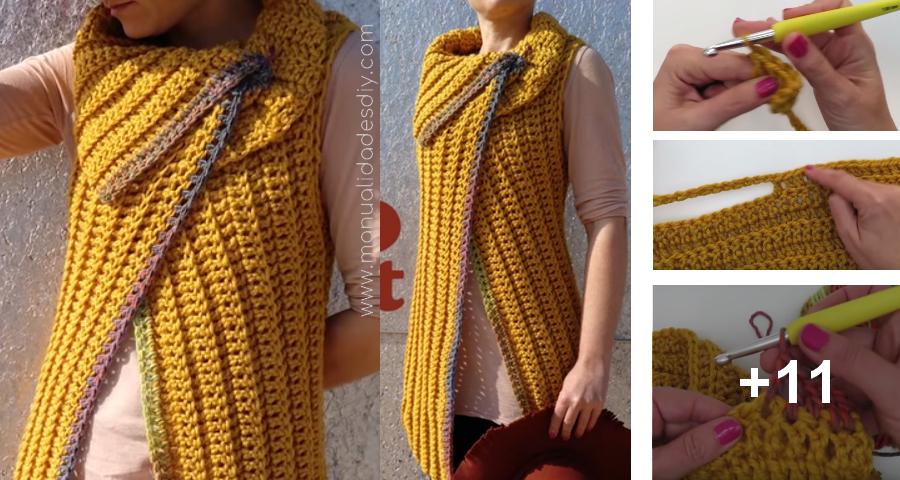 Hacer Un Chaleco Tejido a Crochet muy Fácil y Rápido ...