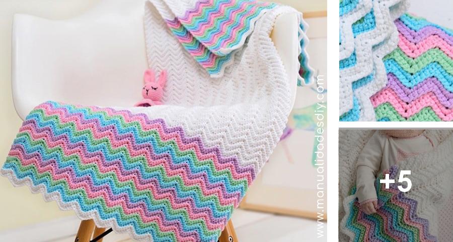 Manta Zigzag en Crochet para Bebé ⋆ Manualidades Y DIYManualidades ...