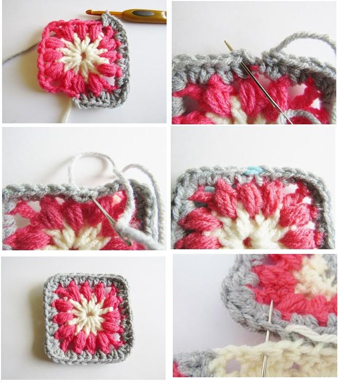 Manta o Afgano Primavera en Crochet con paso a paso grátis ...