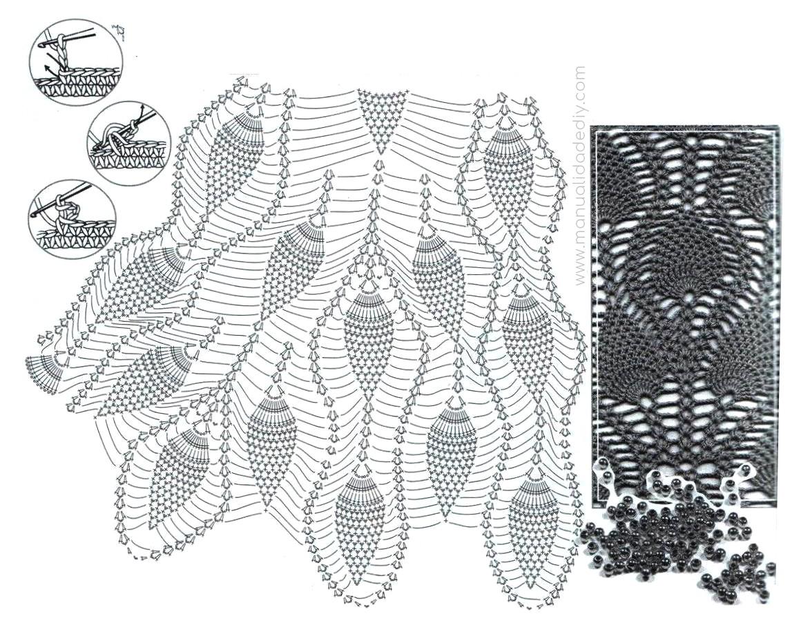 Vestido a Crochet Punto Piñas / Patrones ⋆ Manualidades Y ...