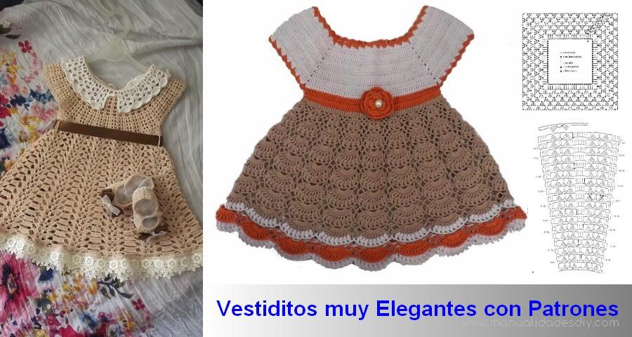 e548c8b7a Quien no quiere hacer hermosos vestidos de ganchillo para bebés en casa?  ¿Tod@s, verdad? Enseguida puedes ver los patrón de los modelos de lo  vestidos.