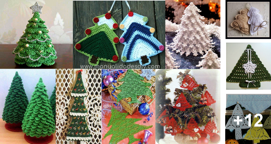 Disenos En Crochet De Arboles De Navidad Para Tejer Manualidades - Arboles-para-navidad