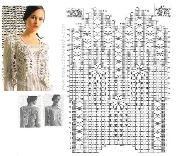 Elegante Chaleco con Patrones a Crochet ⋆ Manualidades Y ...