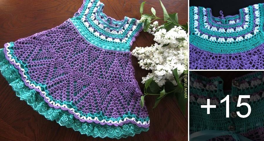 Hermoso Vestido En Crochet Con Patrones Para Niñas