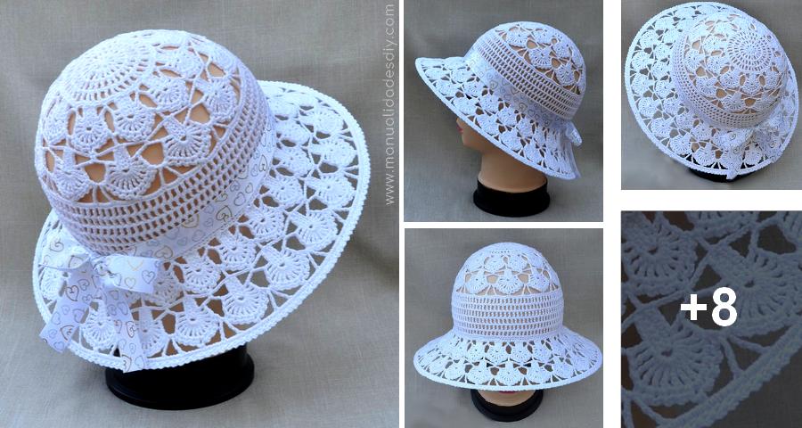 2d8c3c8c2d207 Precioso Sombrero Tejido a Crochet - ¡Te encantará .