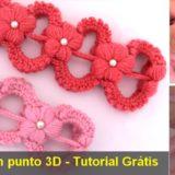 diadema punto 3d crochet