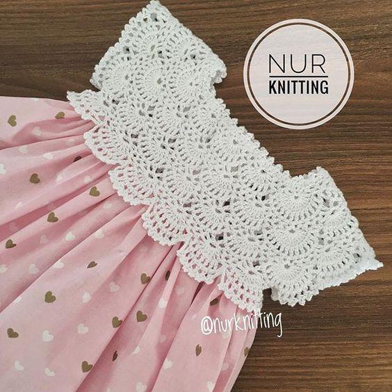 Vestido De Niña Con Canesu A Crochet Manualidades Y