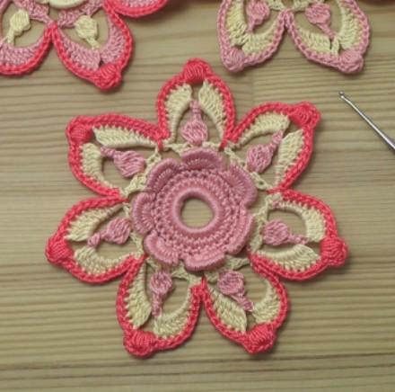flor crochet irlandés