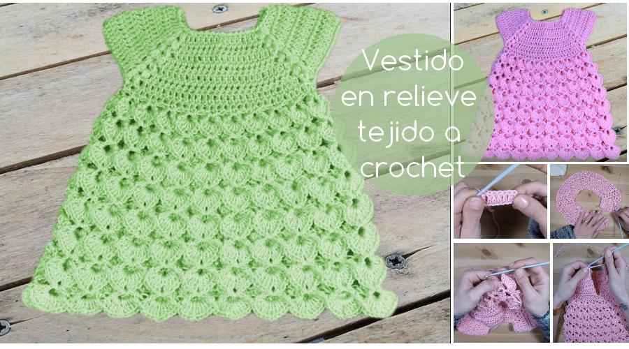 Vestido En Relieve Tejido A Crochet Video Tutorial