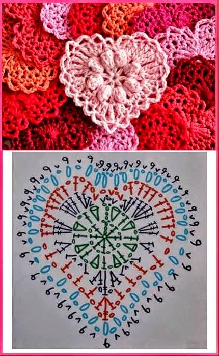 crochet hearts (4)