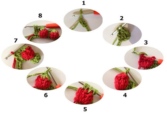 step by step strawberry crochet