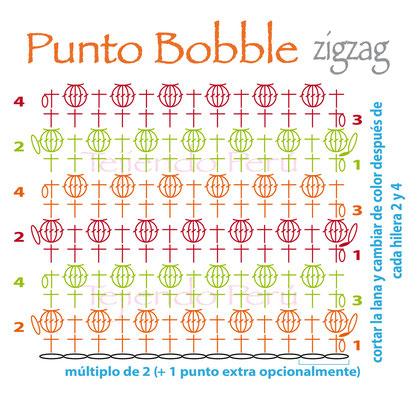 punto-bobble-en-zigzag-tejido-a-crochet-crochet-bobble-stitch