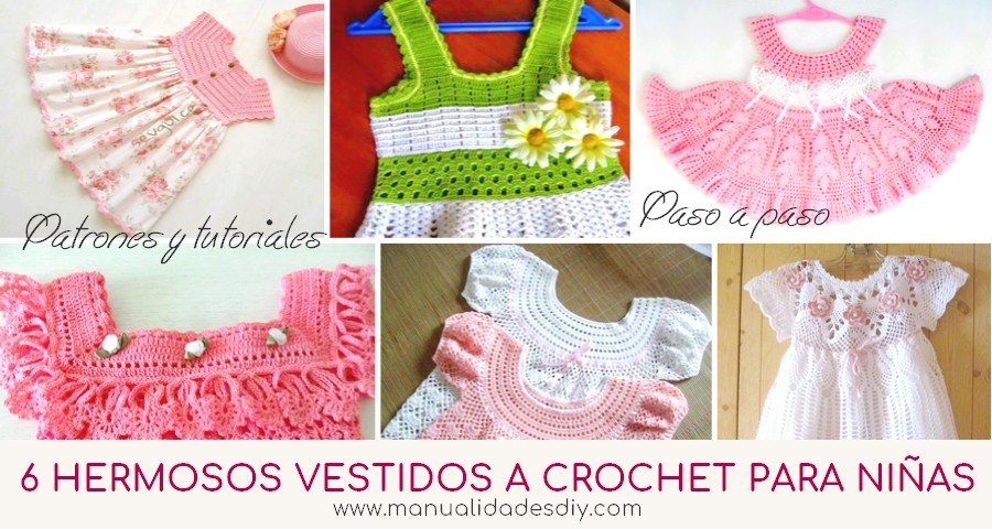 vestidos crochet niñas