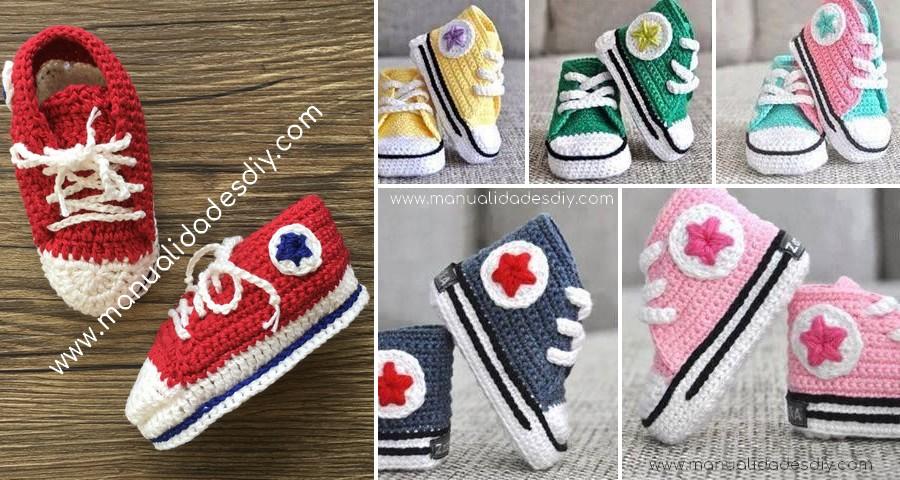 botines all star crochet