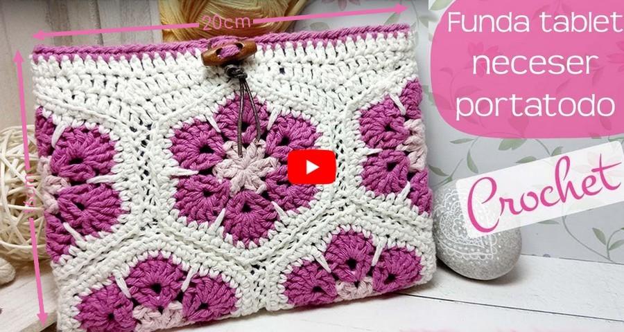 funda tablet crochet