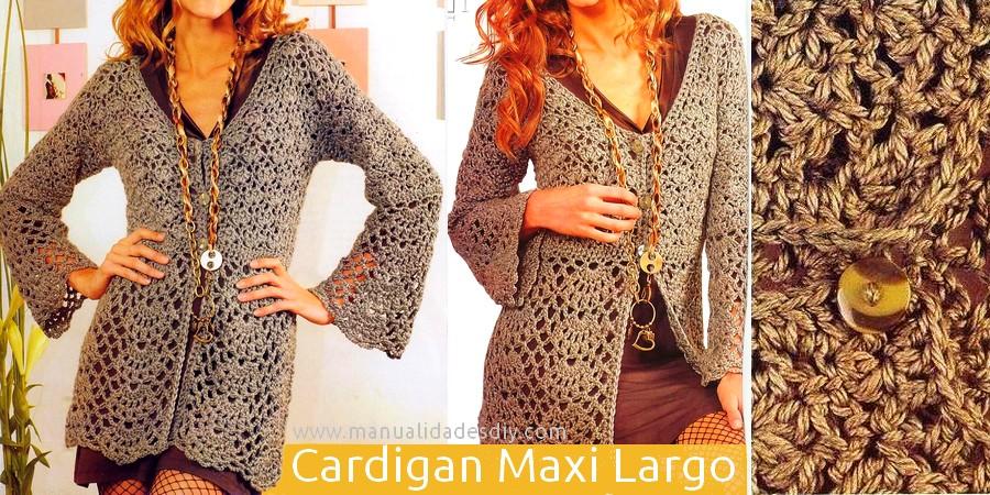 Cardigan Maxi Largo