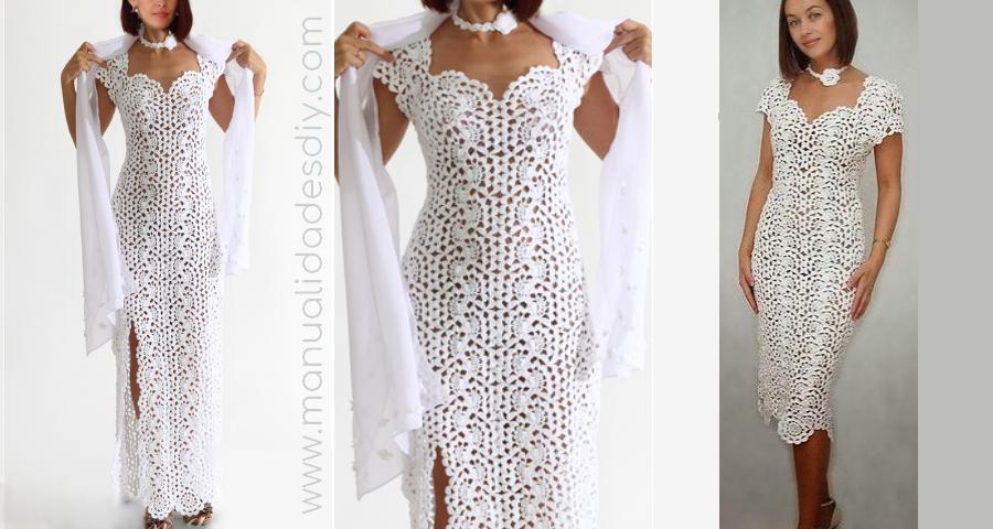 Como hacer un vestido de ganchillo para mujer